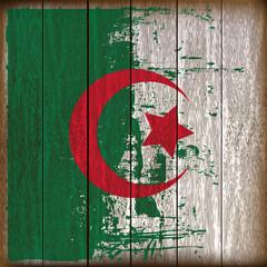 Grunged Algerian Flag