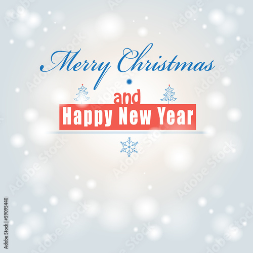 Font greeting christmas card