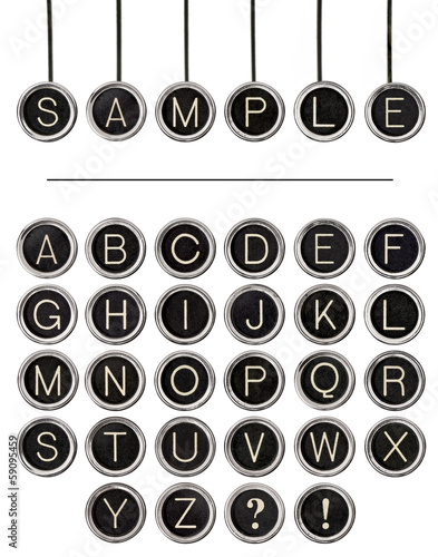 Vintage Typewriter Keys Word Kit