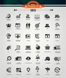 SEO (Search Engine Optimization)icons, Black version,vector