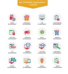 Set Of SEO icon 2,Colorful version,vector