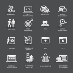 Set of SEO icons,vector