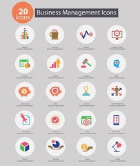 Business Management icons,Colorful version,vector