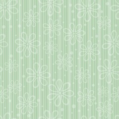 simple striped floral pattern, vector illustration