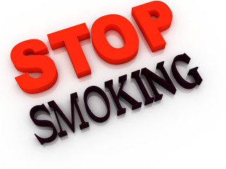 Stop smoking - cigarette