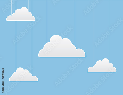 Multiple clouds on strings in the sky
