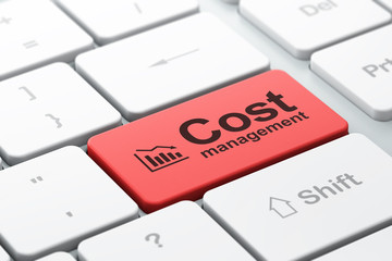 Business concept: Decline Graph and Cost Management
