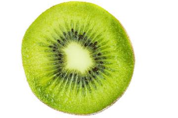 Half of fresh kiwifruit isolated on white background