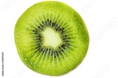 Half of fresh kiwifruit isolated on white background