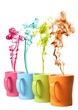 Coffee or Tea Mugs with color steam
