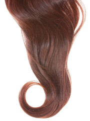 Women hair curl isolated.