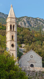 Ancient church in Perast town, Bay of Kotor, Montenegro