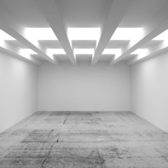 3d abstract architecture background. Empty room interior