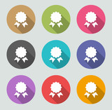 Certificate / Achievements icon - Flat designs