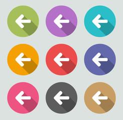 Back arrow - Flat designs