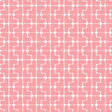 Seamless pattern build with heart shape. Vector background.