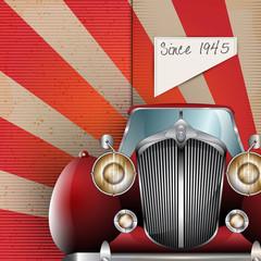 Retro Party brochure with vintage car