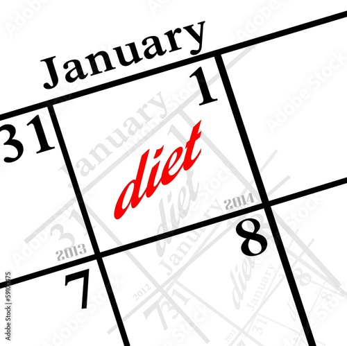 2014 new years resolution is DIET!