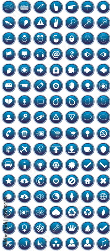 Blue icons set