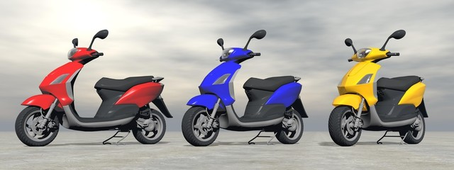 Scooters - 3D render