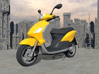 Urban scooter - 3D render