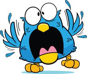 Cartoon Frantic Blue Bird