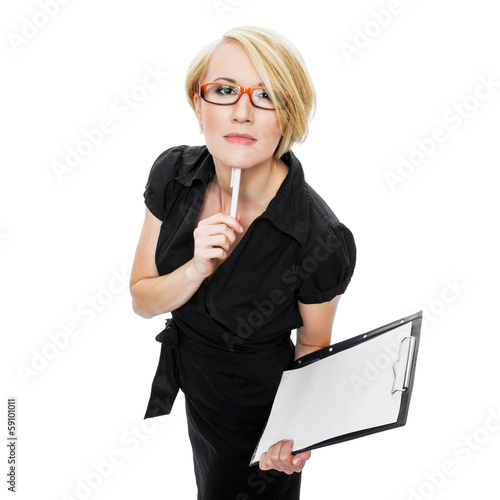 Businesswoman Gesturing With Pen