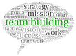 Teamwork concept in word tag cloud