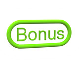 Green bonus icon, 3d