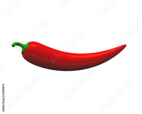 Red chili pepper, 3d