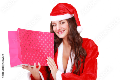 Pretty Santa with your Christmas gift