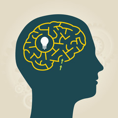 men with idea in mental labyrinth