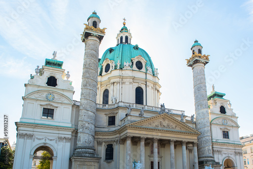 ancient building in the middle of Vienna, Austria