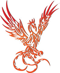 Stock Photo - phoenix tatto