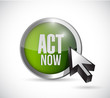 act now button illustration design