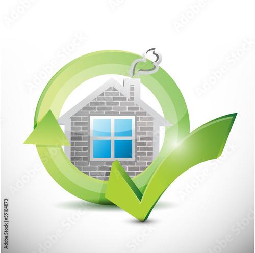 home approval check mark illustration design
