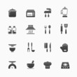 kitchenware vector symbol icon set
