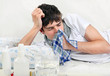 Young Man with Flu