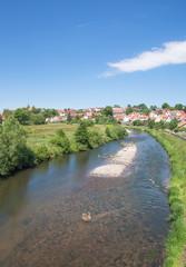 die Werra bei Breitungen in Thüringen