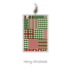 Kerze - Weihnachtskarte Vektor