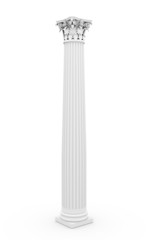 Historic column rendered on white