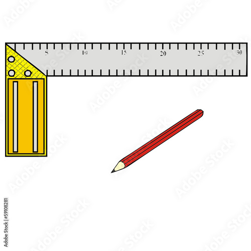 Construction tools vector drawing