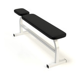 Exercise weight bench. Gym equipment isolated