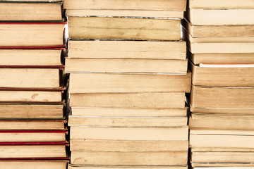 Piles of Weathered Old Books.