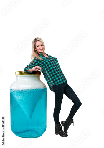 Woman and Tornado Jar