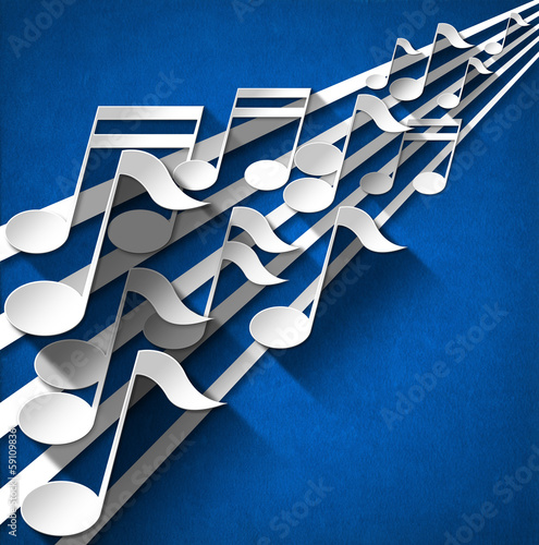 Music Note Background - Blue Velvet