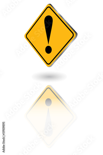Floating Reflective Warning Sign