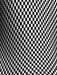Black-white  checkered plane