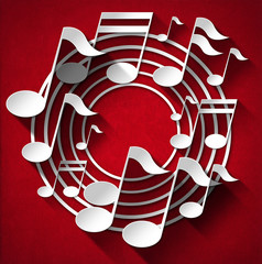 Music Note Background - Red Velvet