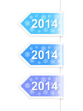 New Year 2014 labels. Vector illustration